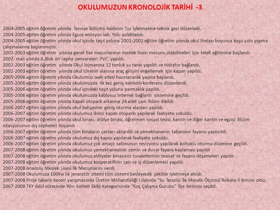 OKULUMUZUN KRONOLOJİK TARİHİ -3