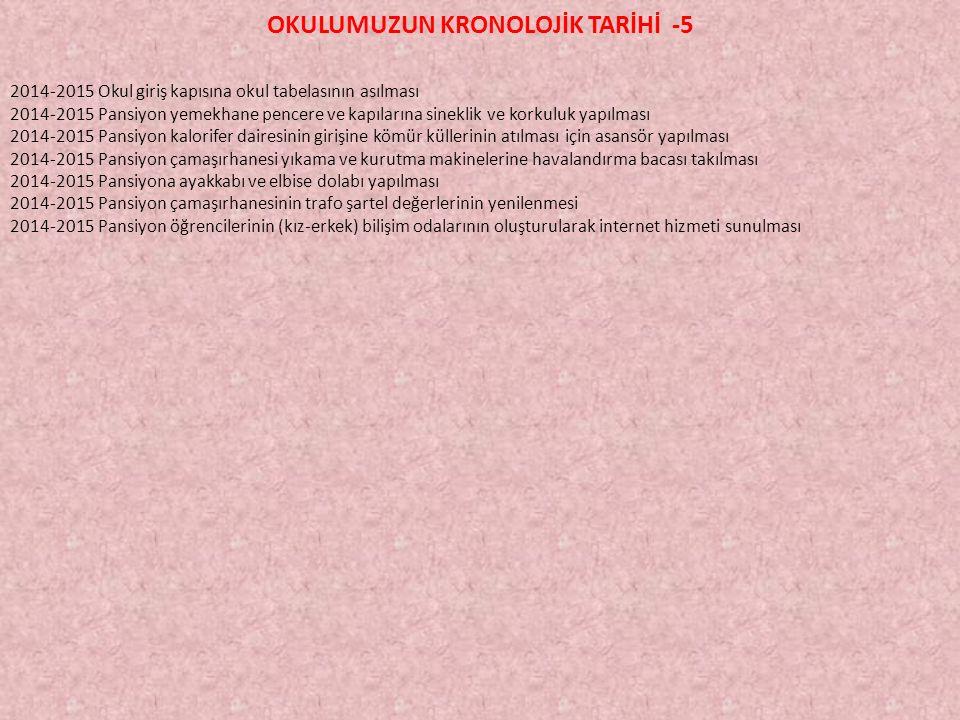 OKULUMUZUN KRONOLOJİK TARİHİ -5