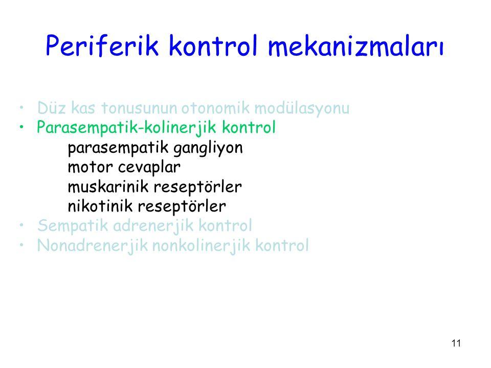 Periferik kontrol mekanizmaları