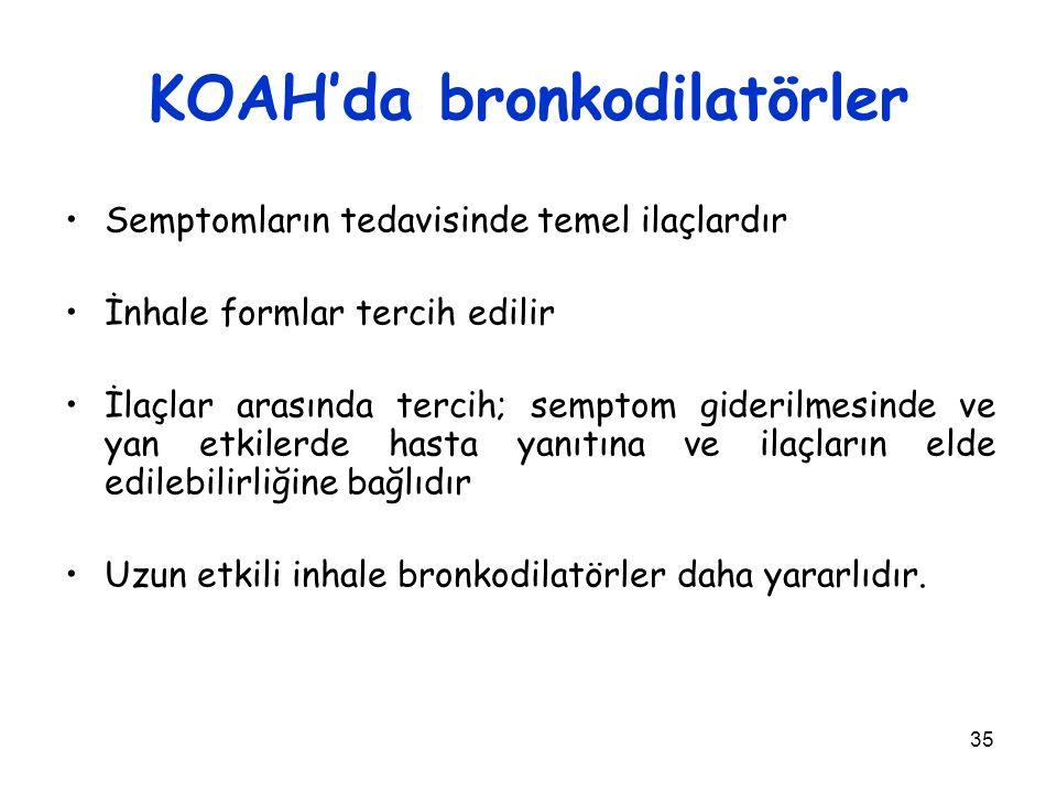 KOAH'da bronkodilatörler