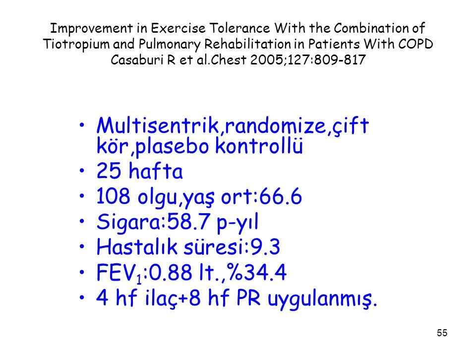 Multisentrik,randomize,çift kör,plasebo kontrollü 25 hafta