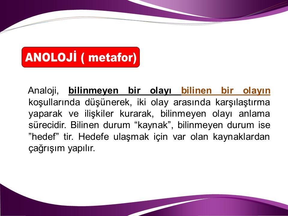 ANOLOJİ ( metafor)