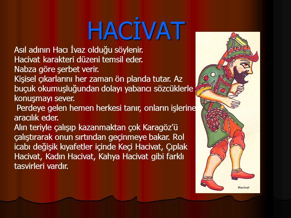 HACİVAT Asıl adının Hacı İvaz olduğu söylenir.