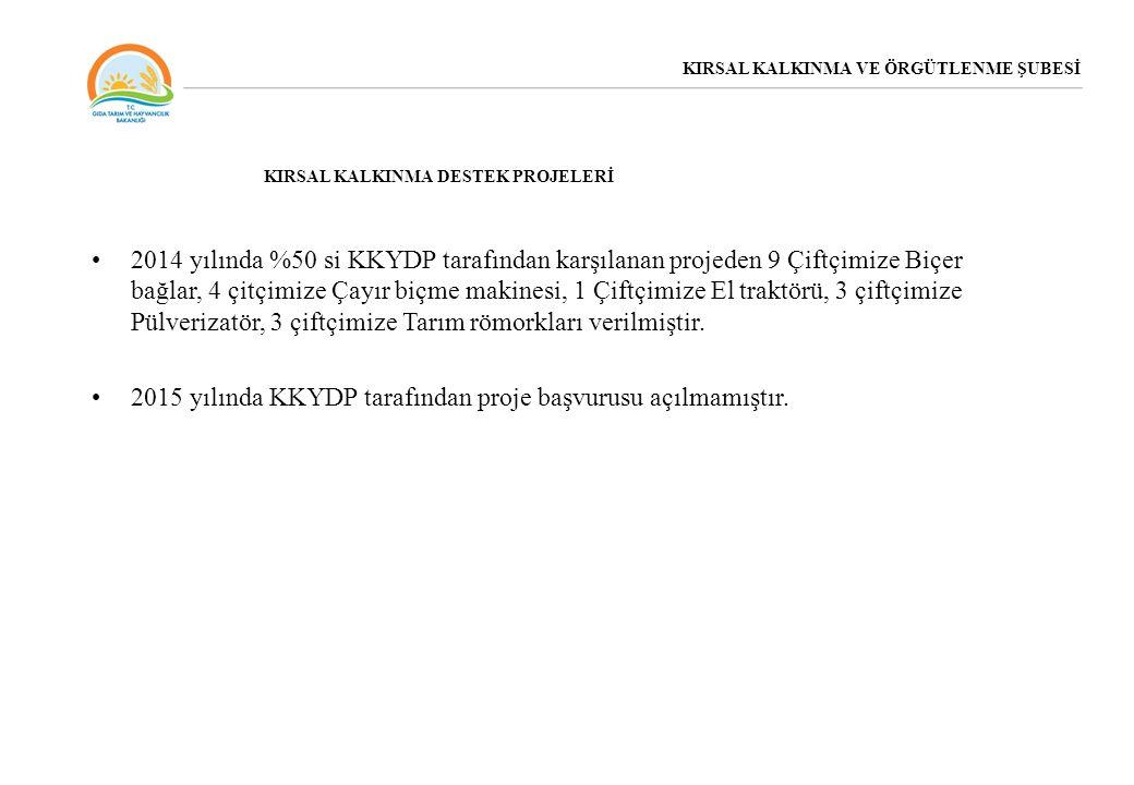 2015 yılında KKYDP tarafından proje başvurusu açılmamıştır.