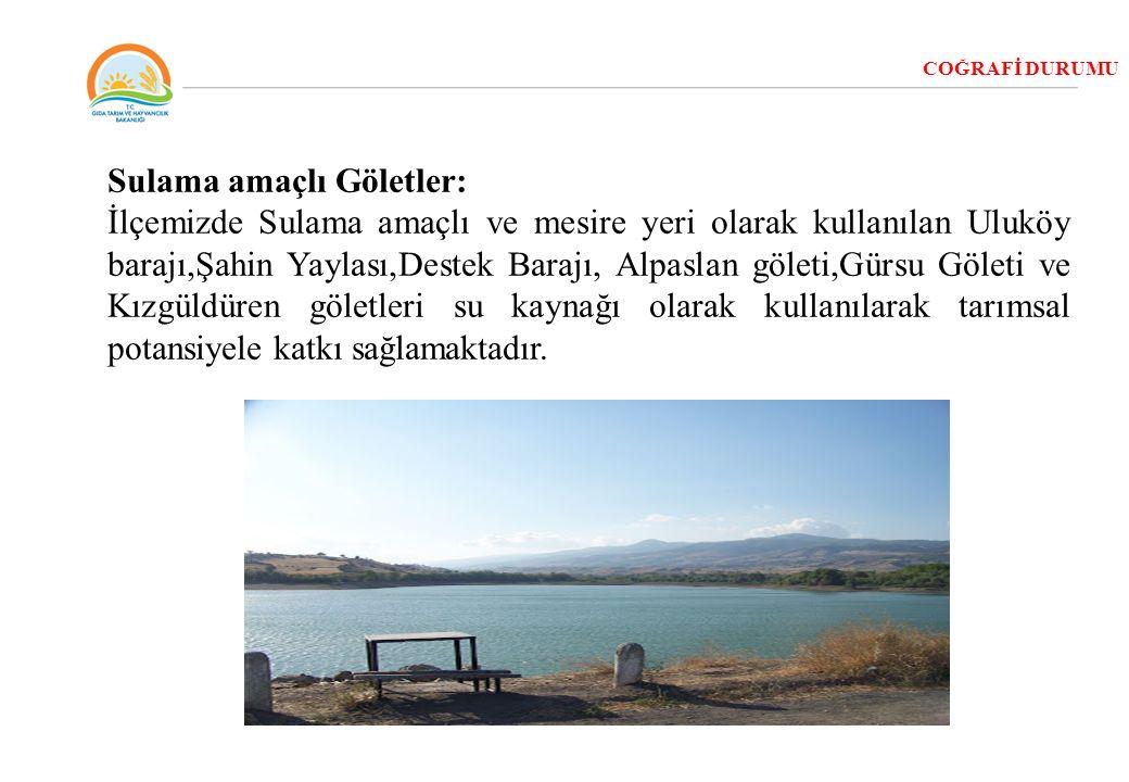 Sulama amaçlı Göletler: