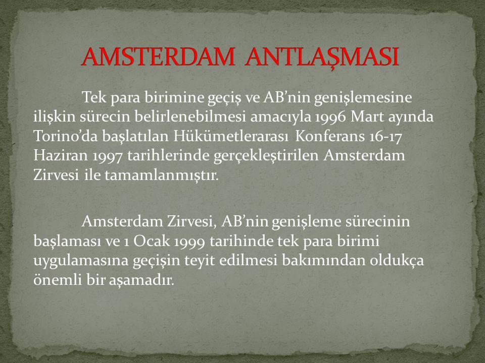 AMSTERDAM ANTLAŞMASI