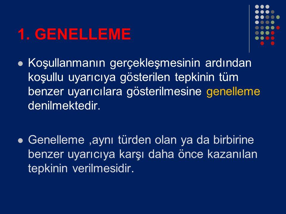 1. GENELLEME