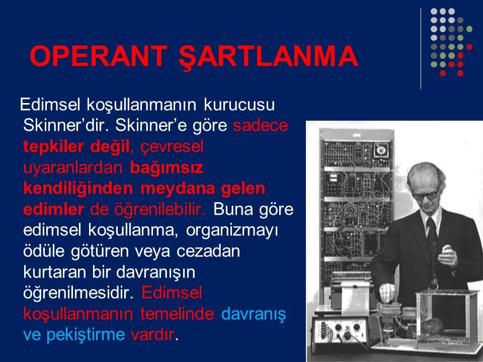 OPERANT ŞARTLANMA