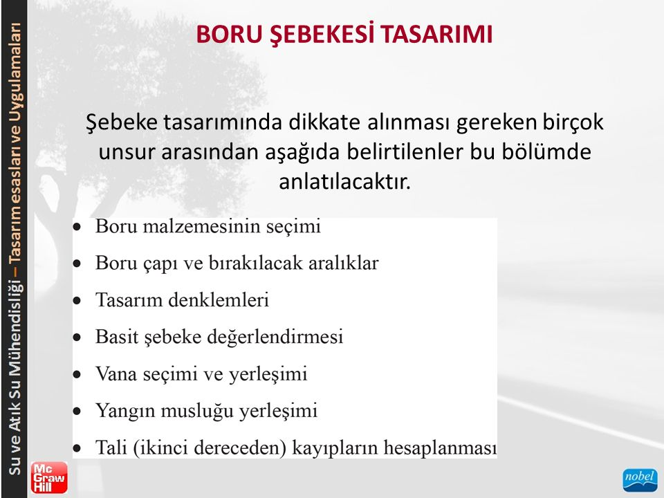 BORU ŞEBEKESİ TASARIMI