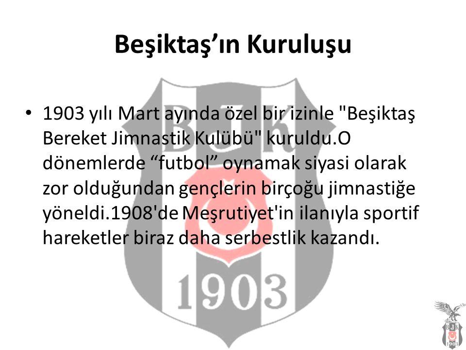 Beşiktaş'ın Kuruluşu