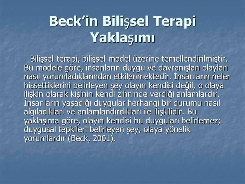Beck'in Bilişsel Terapi Yaklaşımı