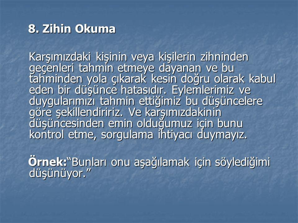 8. Zihin Okuma