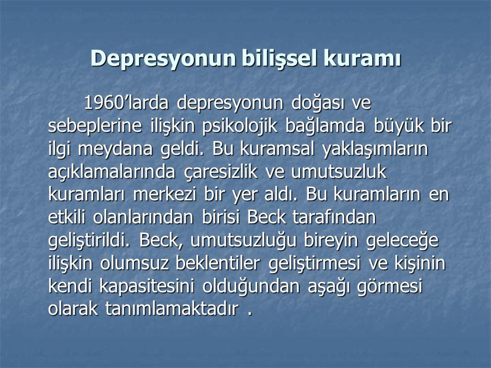 Depresyonun bilişsel kuramı