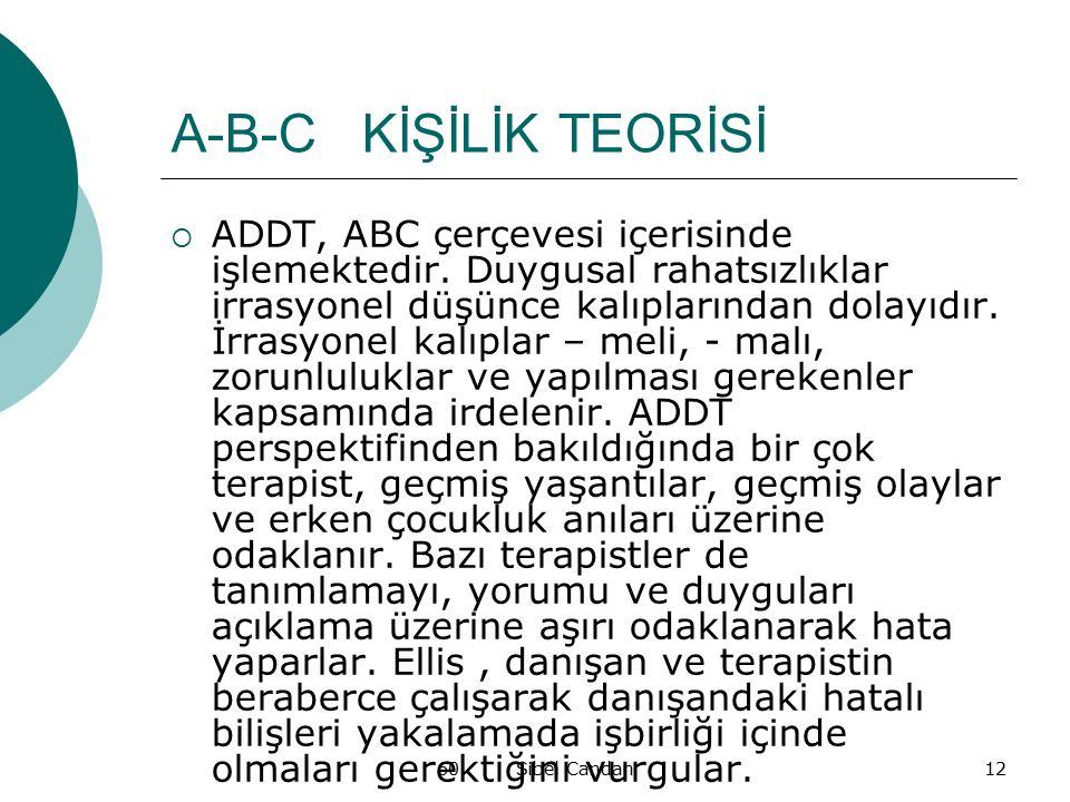 A-B-C KİŞİLİK TEORİSİ