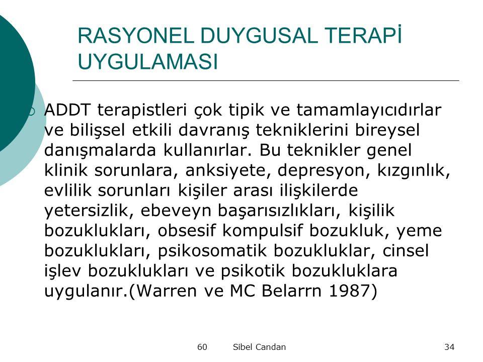 RASYONEL DUYGUSAL TERAPİ UYGULAMASI