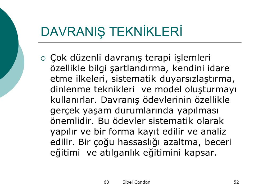 DAVRANIŞ TEKNİKLERİ