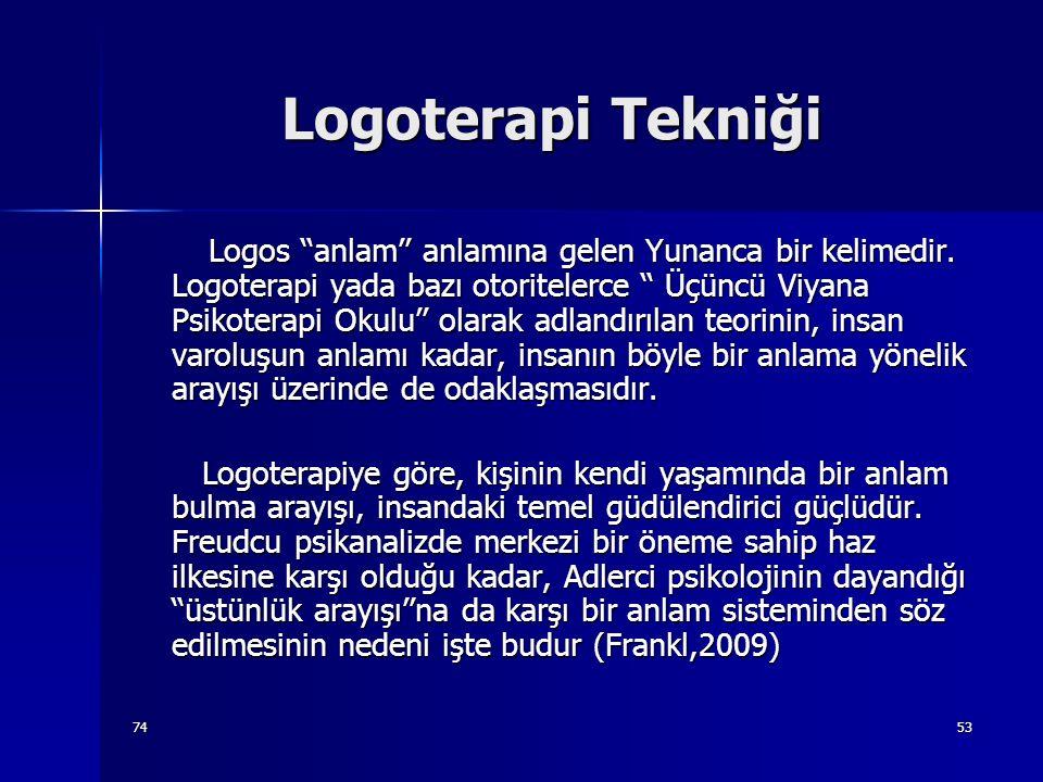 Logoterapi Tekniği