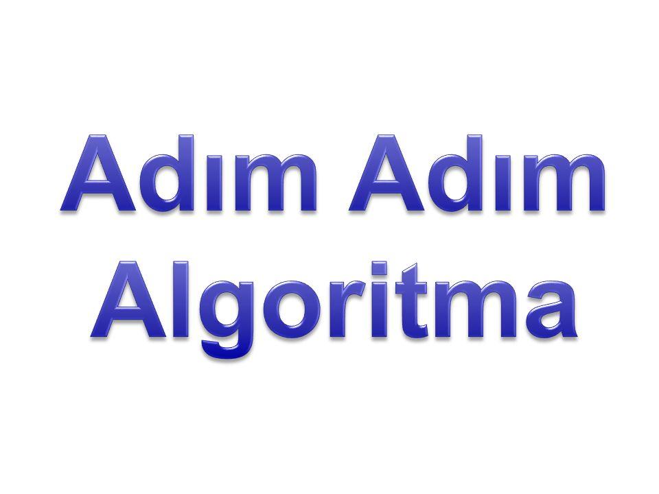 Adım Adım Algoritma