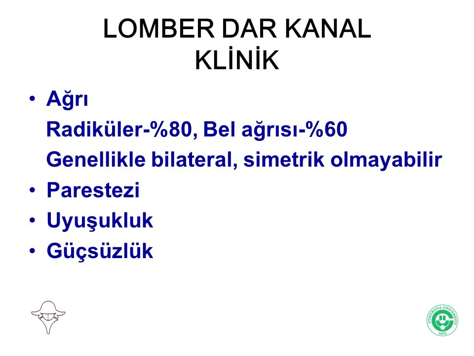 LOMBER DAR KANAL KLİNİK