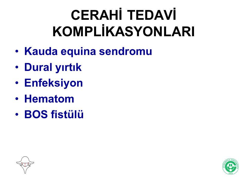 CERAHİ TEDAVİ KOMPLİKASYONLARI