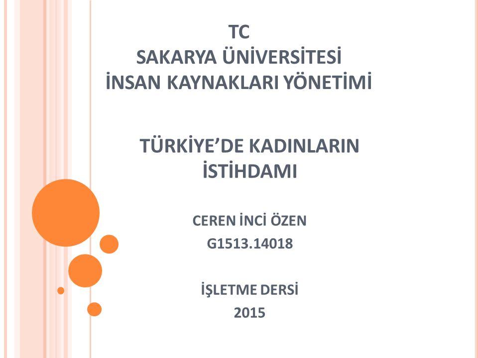 TC SAKARYA ÜNİVERSİTESİ İNSAN KAYNAKLARI YÖNETİMİ