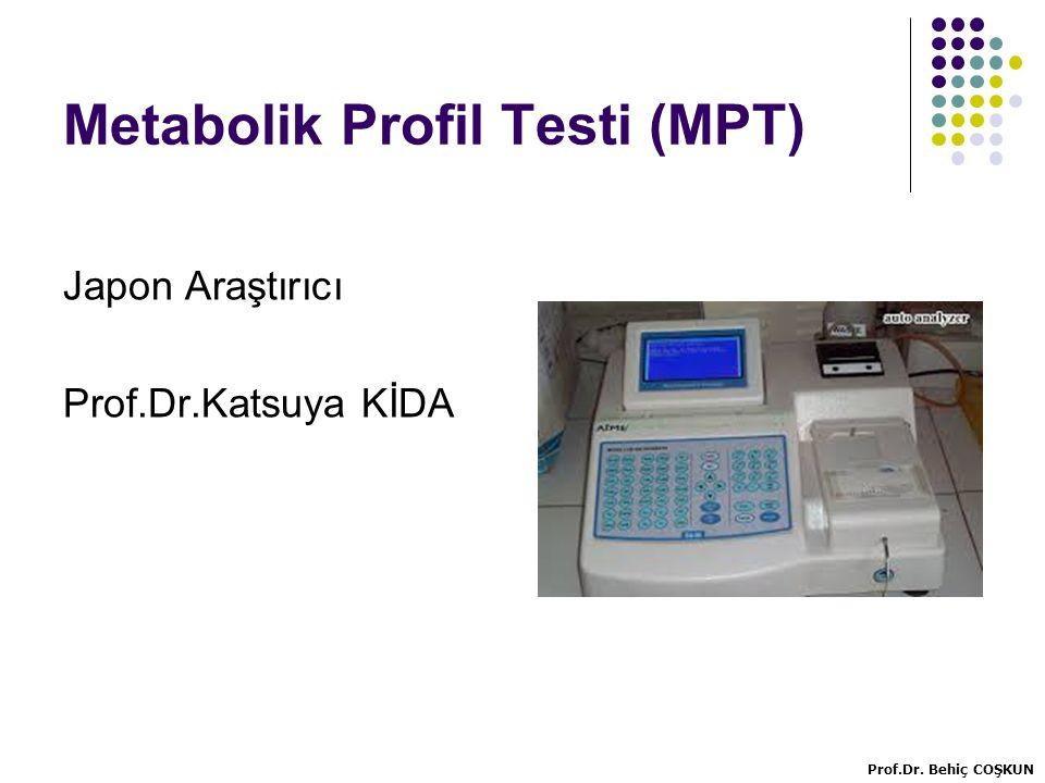 Metabolik Profil Testi (MPT)