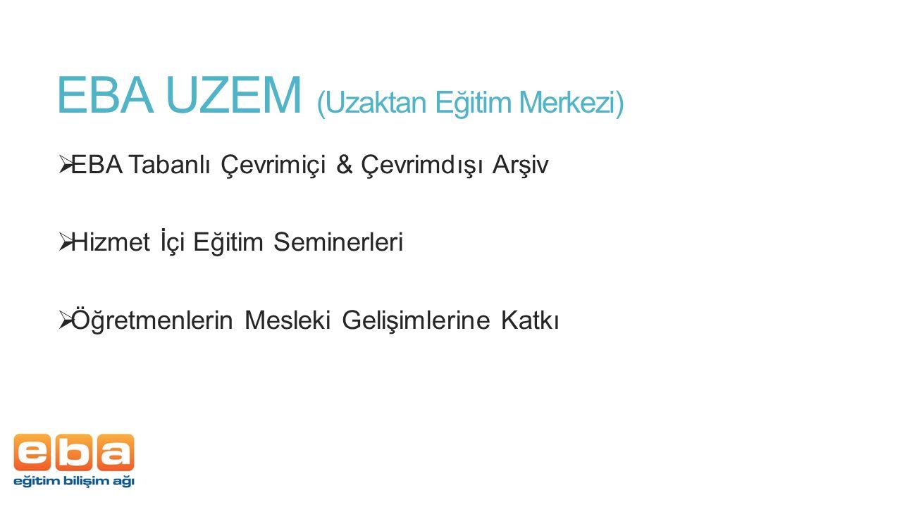 EBA UZEM (Uzaktan Eğitim Merkezi)