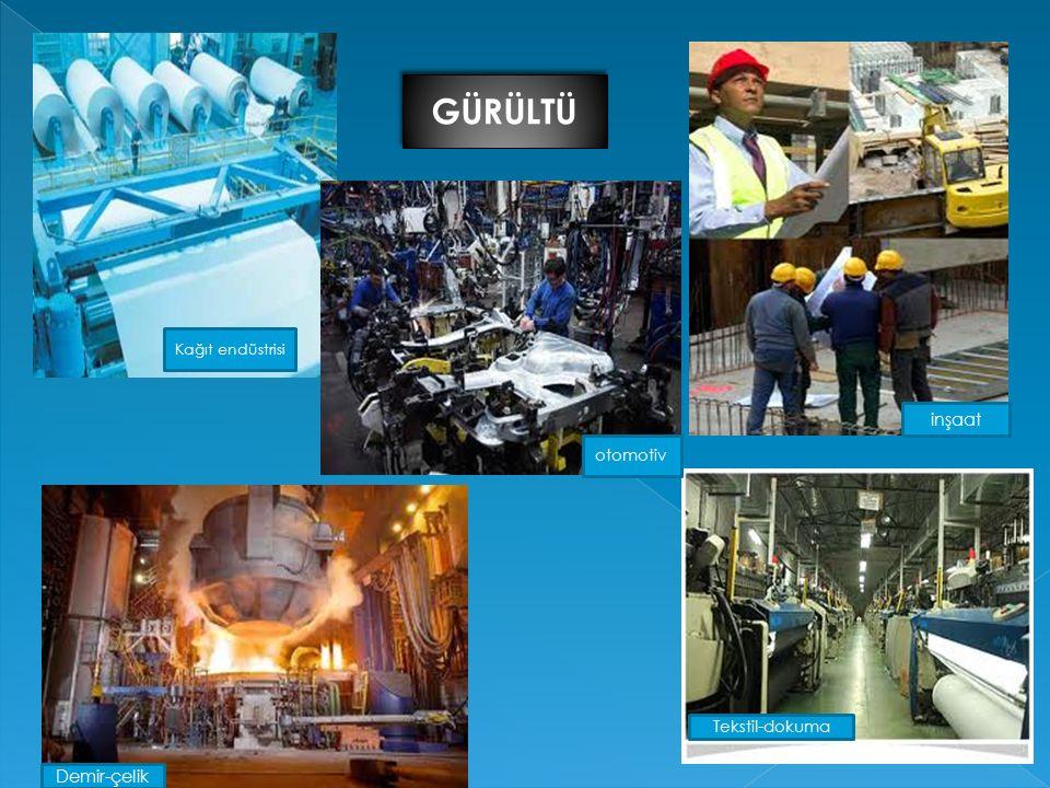 GÜRÜLTÜ Kağıt endüstrisi inşaat otomotiv Tekstil-dokuma Demir-çelik
