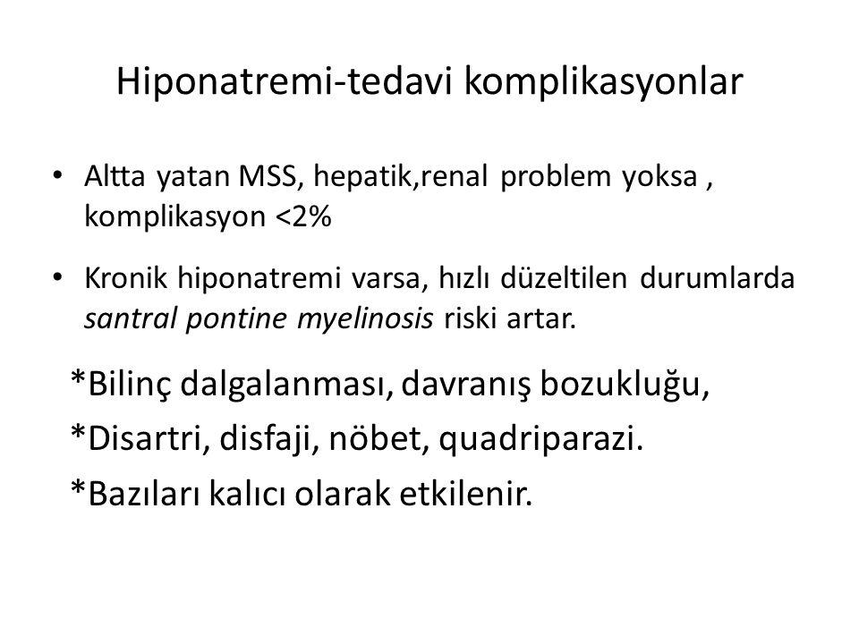 Hiponatremi-tedavi komplikasyonlar