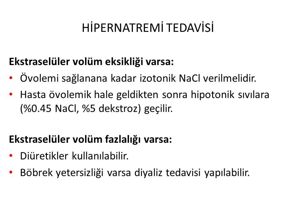 HİPERNATREMİ TEDAVİSİ