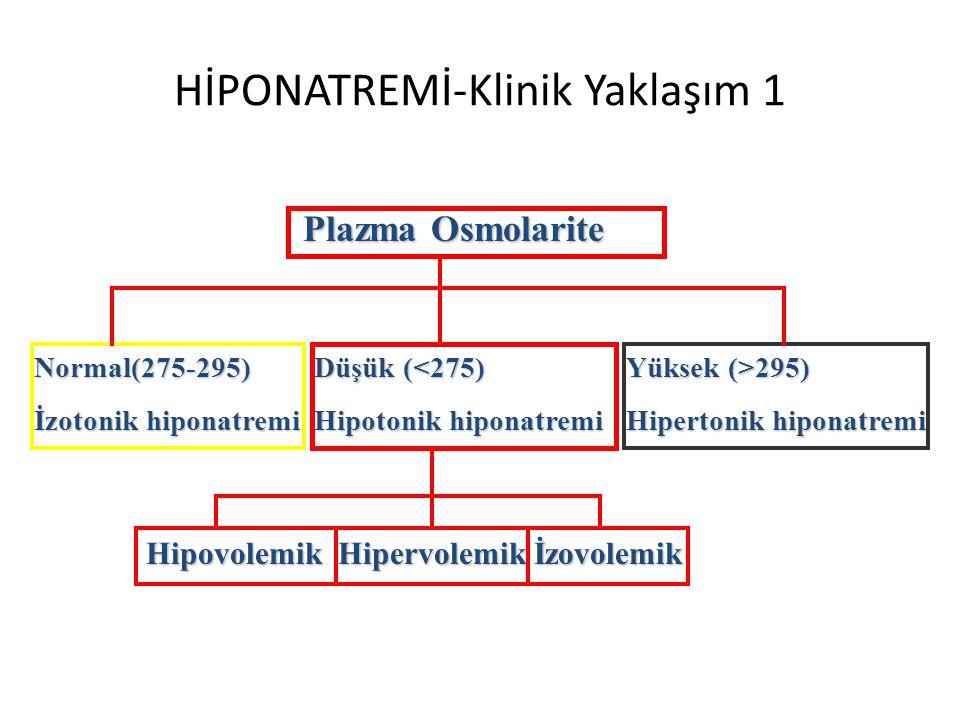 HİPONATREMİ-Klinik Yaklaşım 1