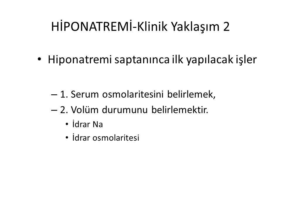 HİPONATREMİ-Klinik Yaklaşım 2