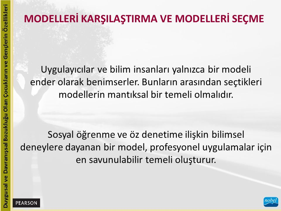 MODELLERİ KARŞILAŞTIRMA VE MODELLERİ SEÇME