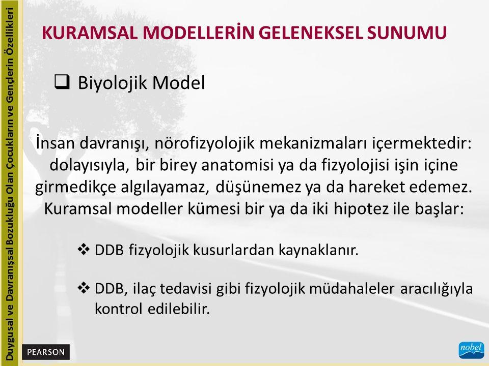 KURAMSAL MODELLERİN GELENEKSEL SUNUMU