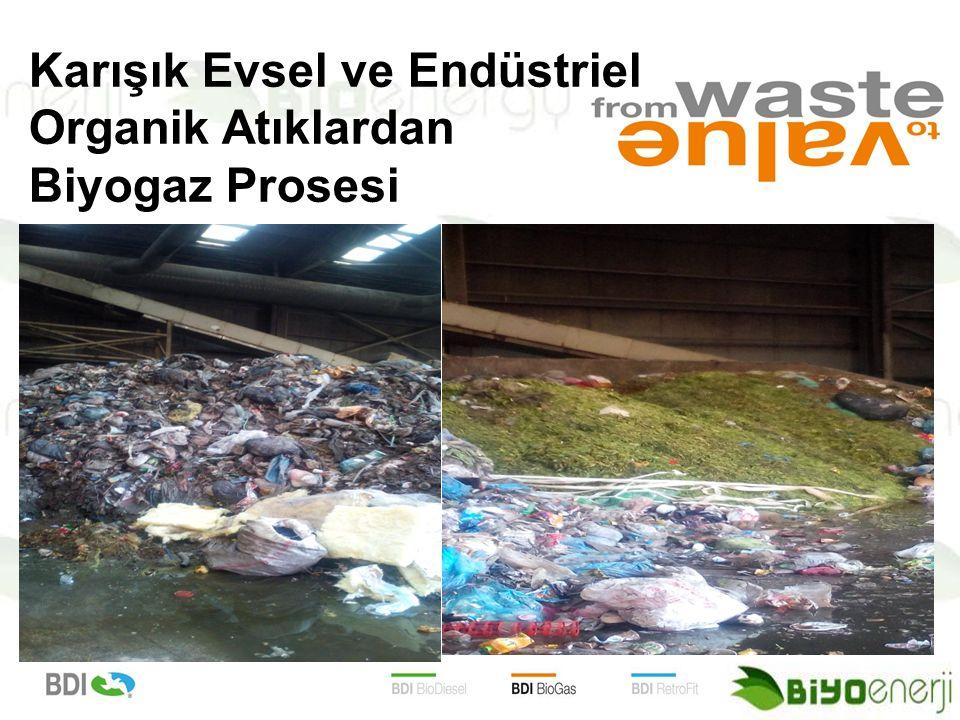 Karışık Evsel ve Endüstriel Organik Atıklardan Biyogaz Prosesi