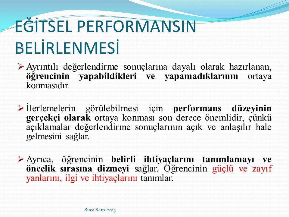 EĞİTSEL PERFORMANSIN BELİRLENMESİ