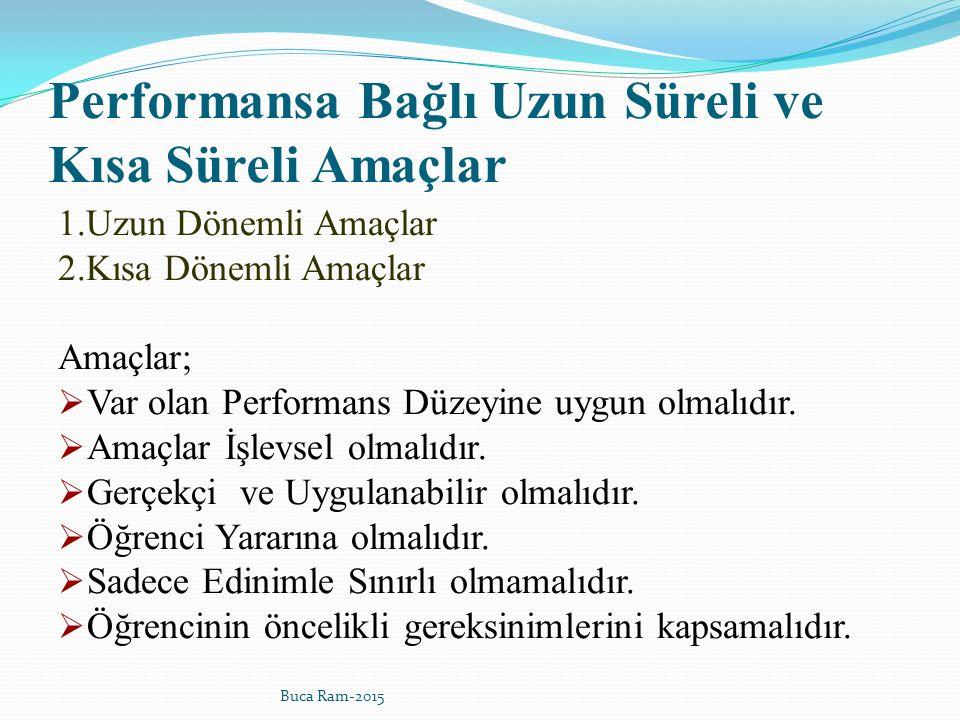 Performansa Bağlı Uzun Süreli ve Kısa Süreli Amaçlar