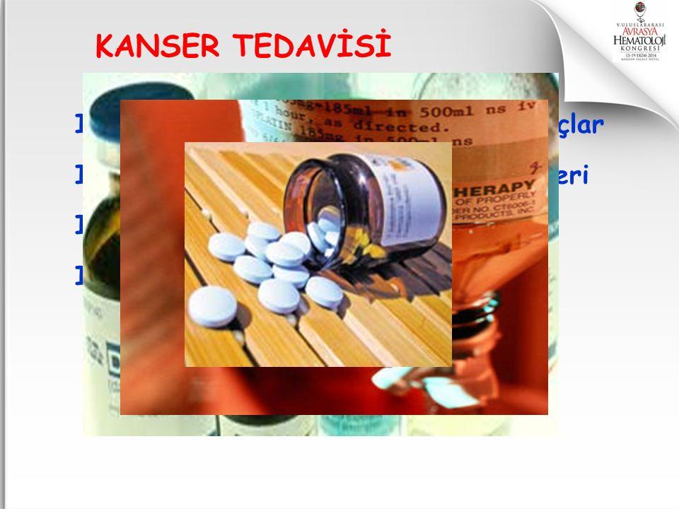 KANSER TEDAVİSİ I. Kemoterapi ilaçları=Sitotoksik ilaçlar