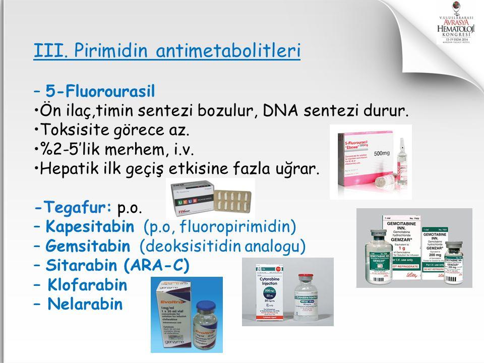 III. Pirimidin antimetabolitleri