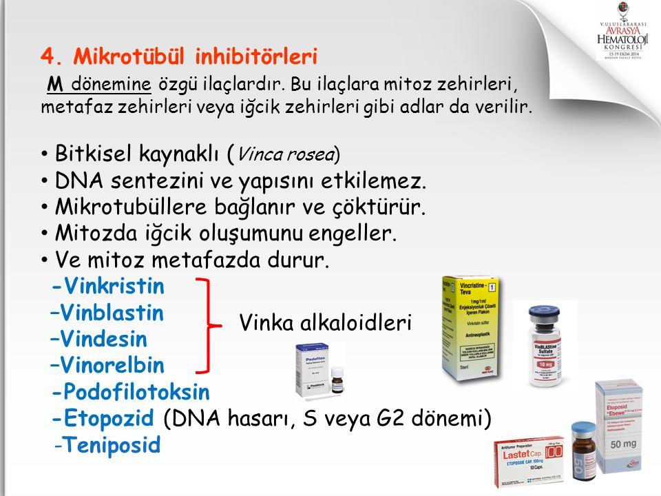 4. Mikrotübül inhibitörleri