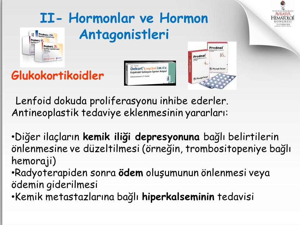II- Hormonlar ve Hormon Antagonistleri