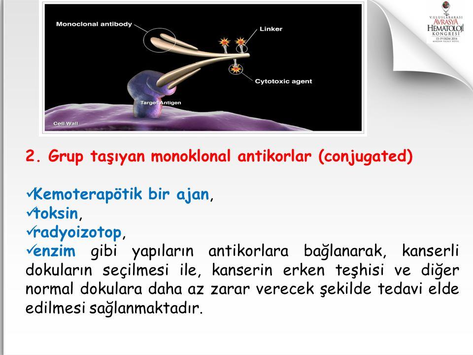 2. Grup taşıyan monoklonal antikorlar (conjugated)
