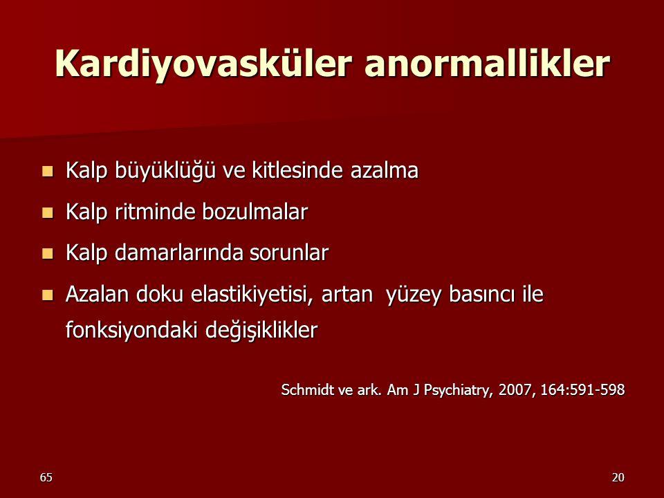 Kardiyovasküler anormallikler