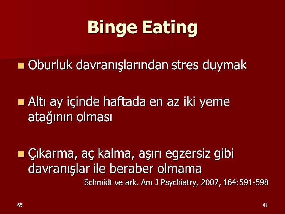Binge Eating Oburluk davranışlarından stres duymak