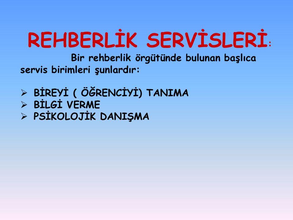 REHBERLİK SERVİSLERİ: