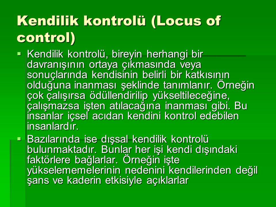 Kendilik kontrolü (Locus of control)