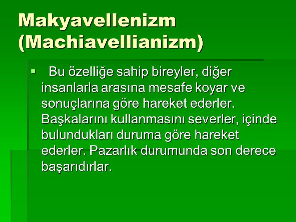 Makyavellenizm (Machiavellianizm)