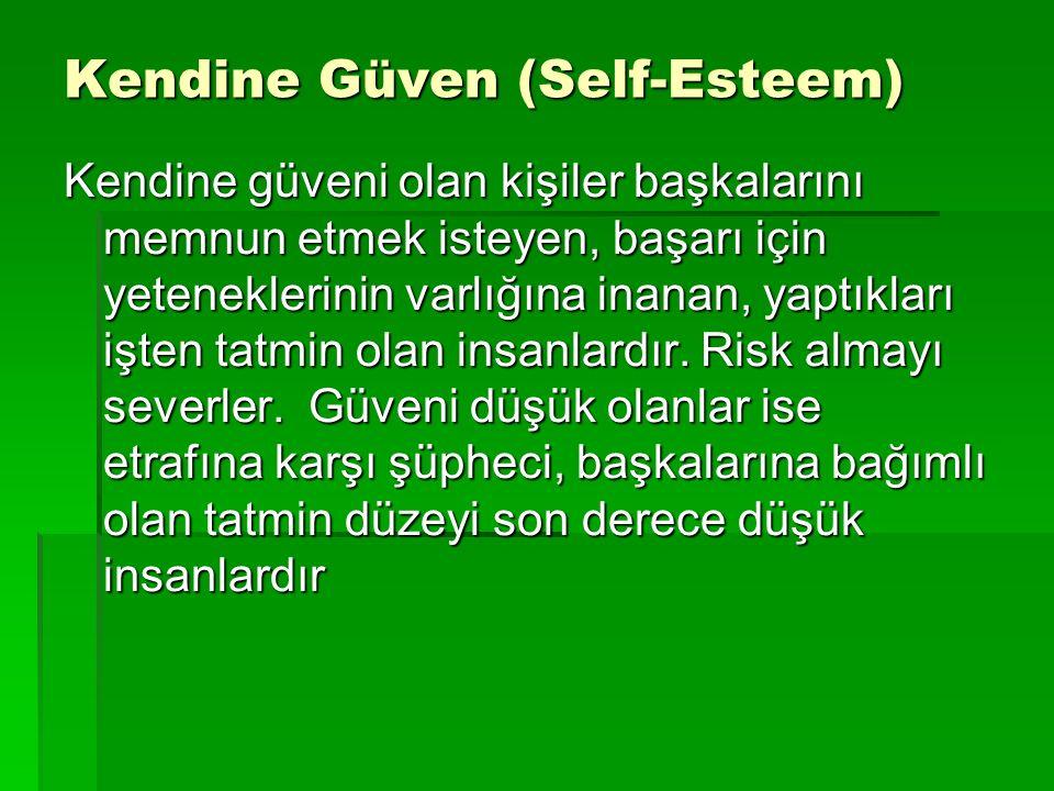 Kendine Güven (Self-Esteem)
