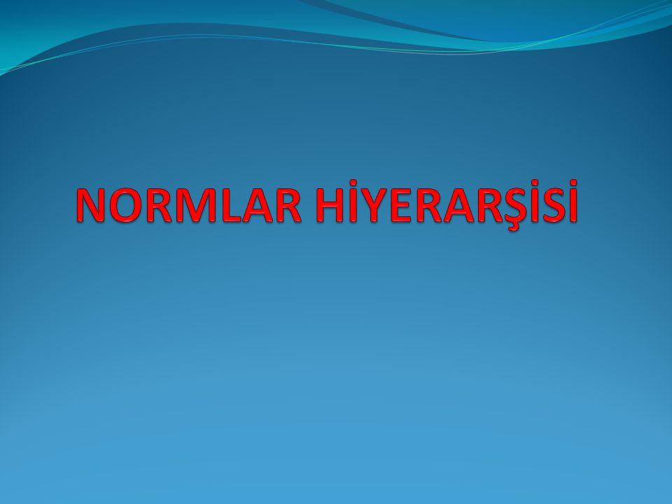 NORMLAR HİYERARŞİSİ