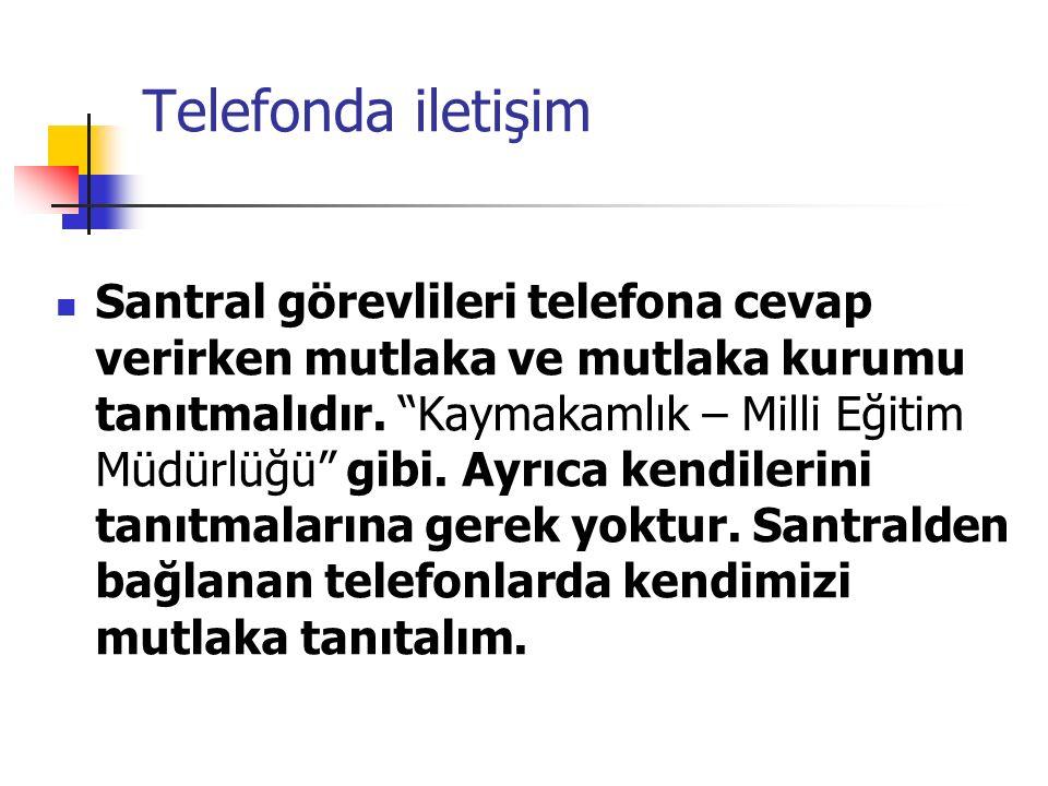 Telefonda iletişim